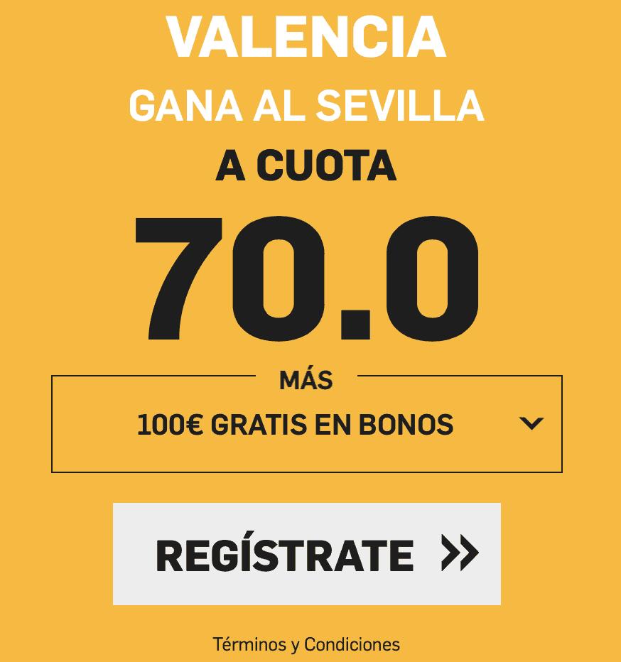 Supercuotas betfair La Liga Valencia - Sevilla