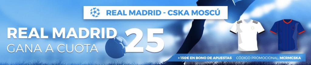 Supercuotas Pastón Champions League : Real Madrid - CSKA Moscú.