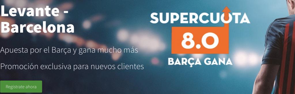Supercuotas betsson La liga : Levante - FC Barcelona