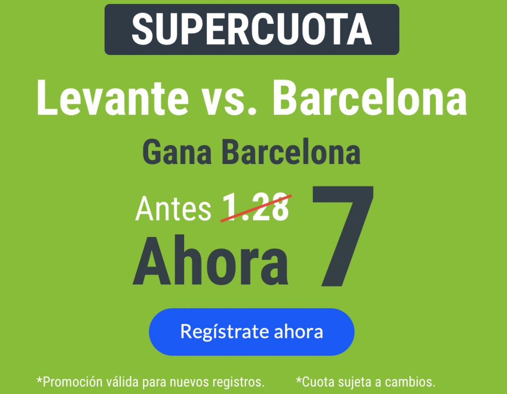 Supercuotas Codere La Liga : Levante - FC Barcelona.