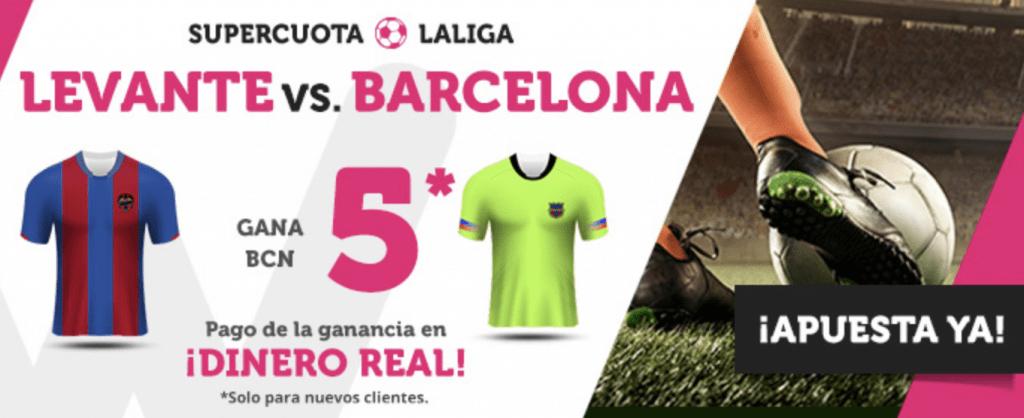 Supercuotas Wanabet FC Barcelona gana a Levante a Cuota 5.
