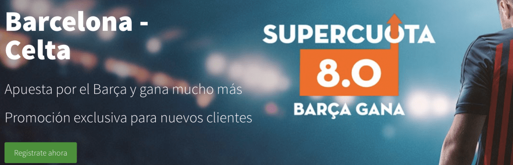 Supercuotas Betsson Fc Barcelona gana a Celta de Vigo a cuota 8.