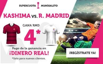 Supercuotas wanabet Mundial Clubes Kashima - Real Madrid.