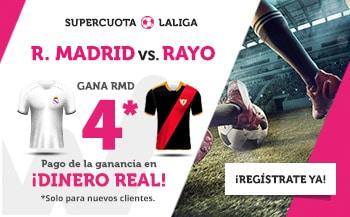 Supercuotas wanabet La Liga Real Madrid - Rayo