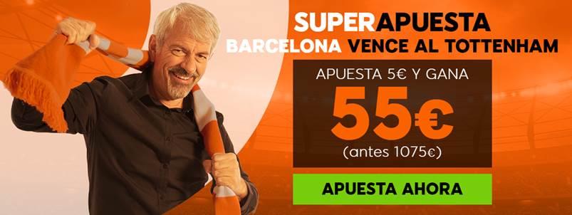 Supercuotas 888sport Champions League FC Barcelona - Tottenham.