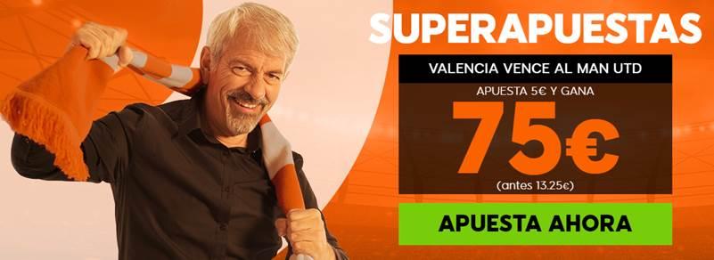 Supercuotas 888sport Champions League : Valencia CF - Manchester United