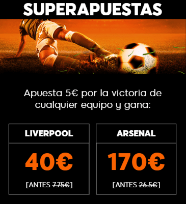Supercuotas 888sport Premier League : Liverpool - Arsenal.
