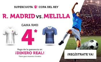 Supercuotas Wanabet Copa del Rey : Real Madrid - Melilla