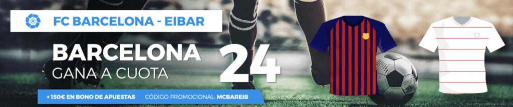 Supercuota pastón Barcelona gana a Eibar a cuota 24
