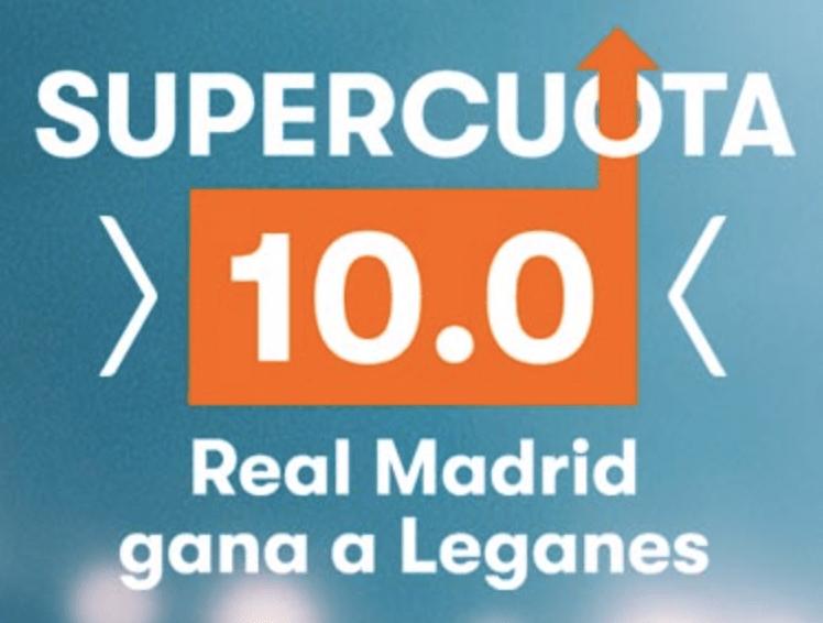 Supercuota Betsson Real Madrid gana a Leganés