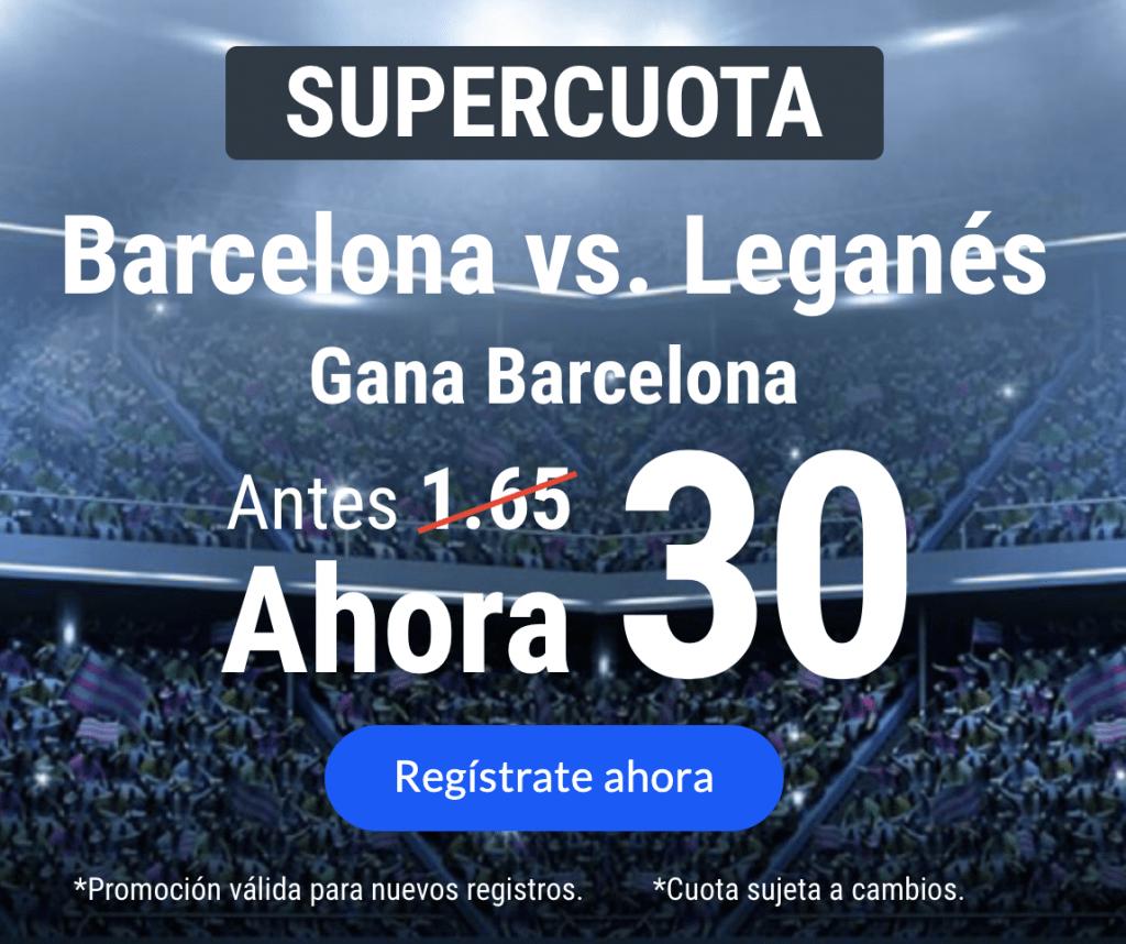 Supercuota Codere Fc Barcelona gana a Leganés a cuota 30.