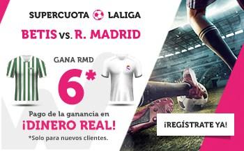 Supercuota wanabet La Liga : Real Madrid gana a Betis a cuota 6.