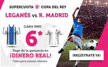 Supercuota Wanabet Real Madrid gana a Leganés a cuota 6.