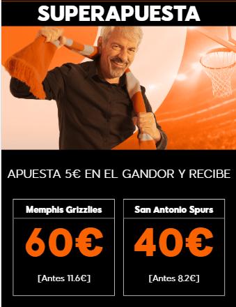 Supercuota NBA 888sport Memphis Grizzlies - San Antonio Spurs