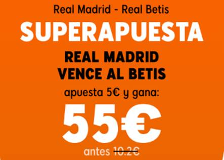 Supercuota 888sport Real Madrid gana al Betis