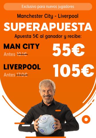 Supercuotas 888sport Premier League : Manchester City - Liverpool .
