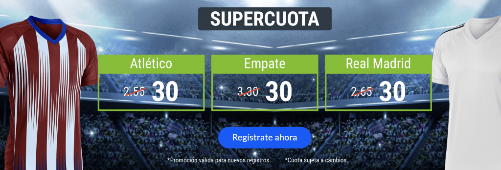 Supercuota Codere Derbi Atlético - Real Madrid