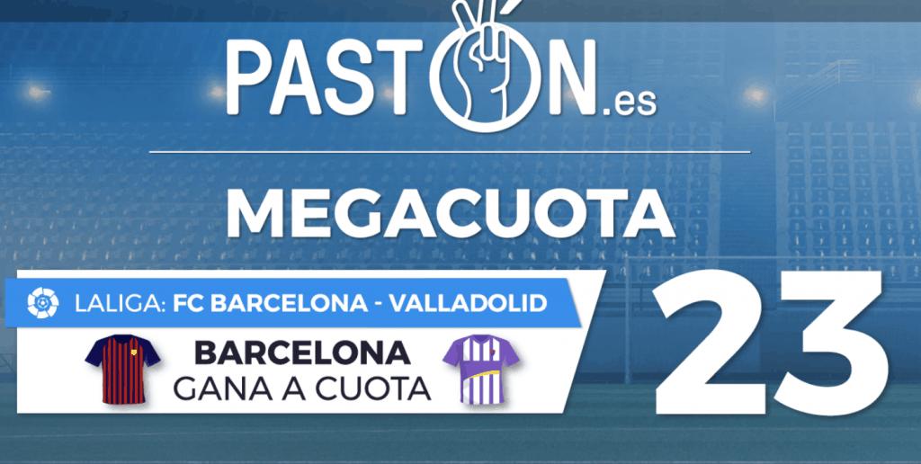 Supercuota pastón Liga , FC Barcelona gana a Valladolid a cuota 23.
