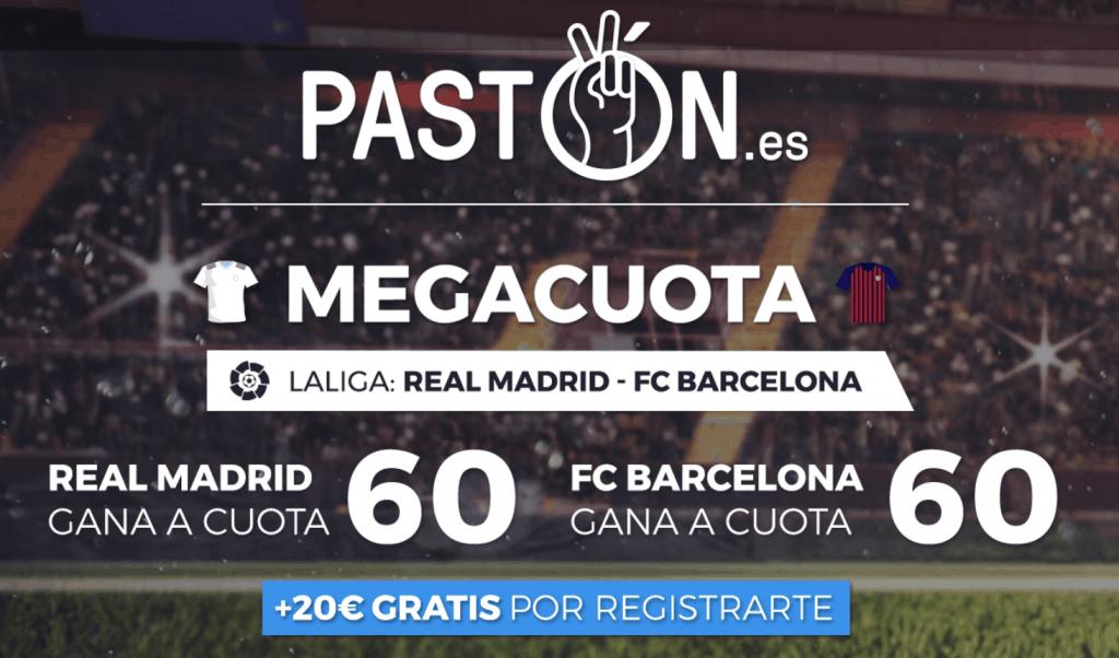 Supercuota pastón La Liga : Real Madrid - Barcelona , elige ganador a cuota 60.