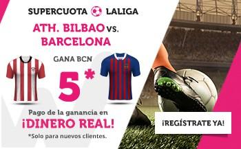 Supercuota wanabet Athletic Bilbao - Barcelona gana a cuota 5.