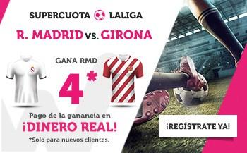 Supercuota Wanabet Liga : Real Madrid gana al Girona a cuota 4.
