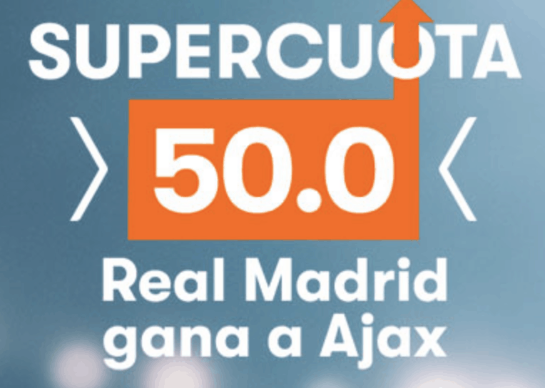 Supercuota Betsson Champions League : Real Madrid gana a cuota 50.