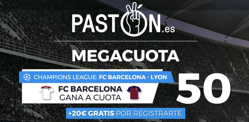 Supercuota pastón Champions League : Fc Barcelona gana al Lyon a cuota 50.