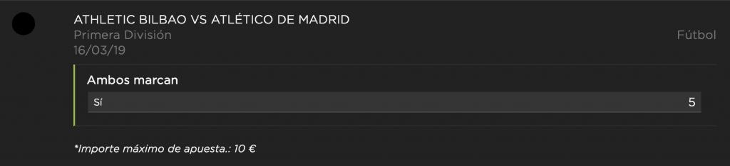 Supercuota vivelasuerte la liga : Athletic - Atlético de Madrid.