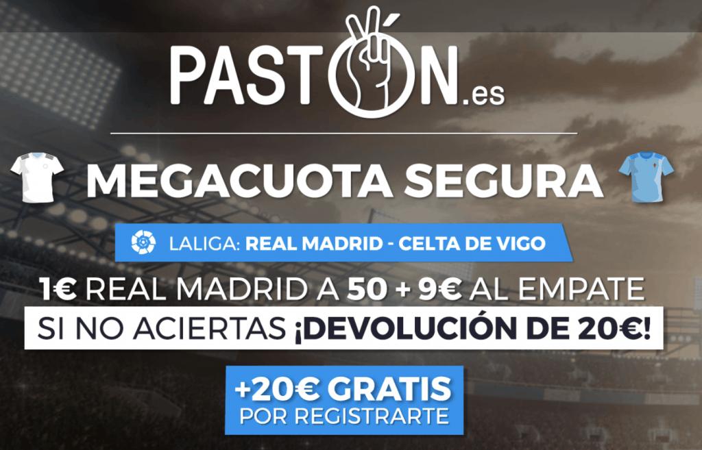 Supercuota Pastón La Liga : Real Madrid gana al Celta a cuota 50.