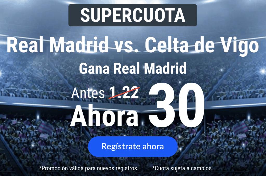 Supercuota Codere La Liga : Real Madrid gana al Rayo a cuota 30.