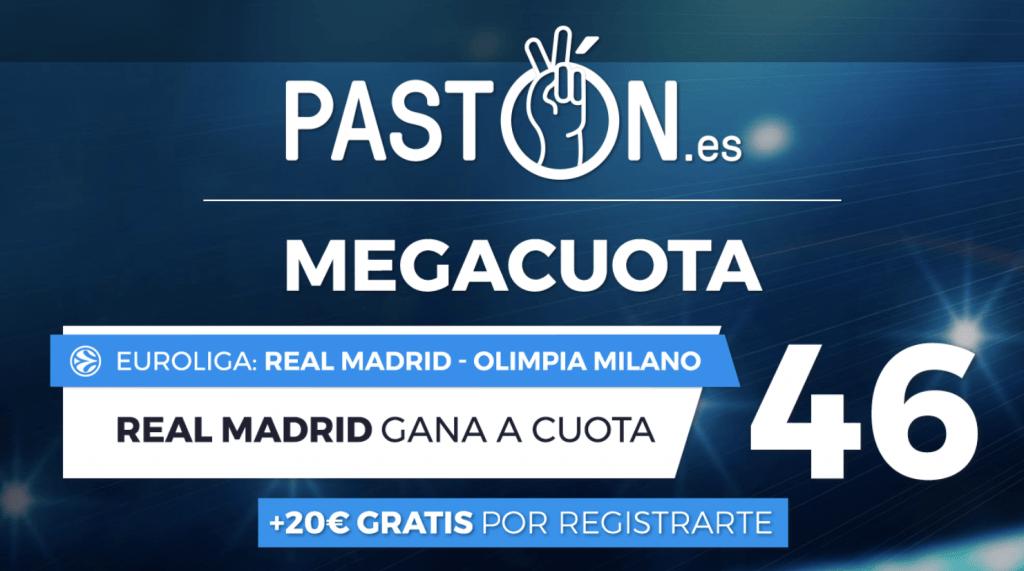 Supercuota pastón Euroliga : Real Madrid gana al Olimpia Milano a cuota 46.