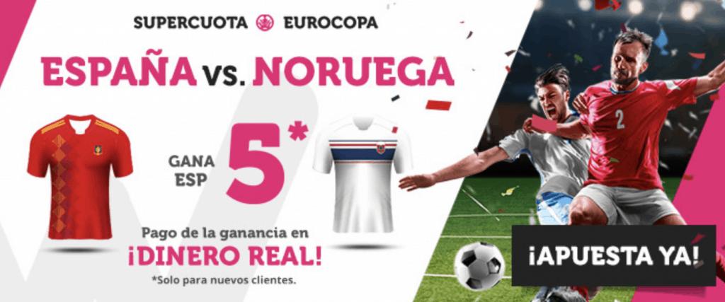 Supercuota Wanabet España gana a Noruega a cuota 5.