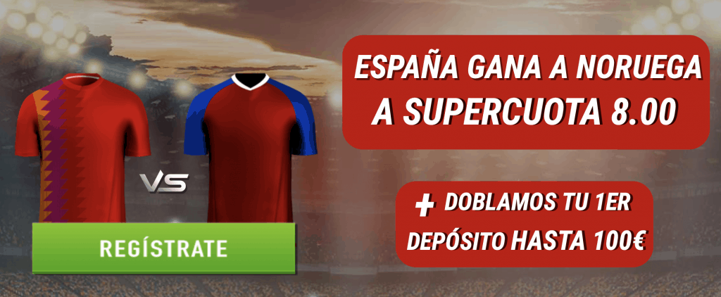 Supercuota Sportium Euro 2020 España gana a Noruega a cuota 8.