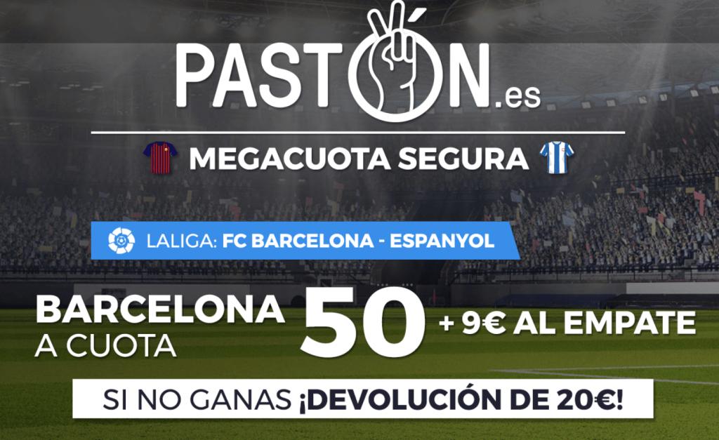 Supercuotas pastón FC Barcelona gana al Espanyol a cuota 50.