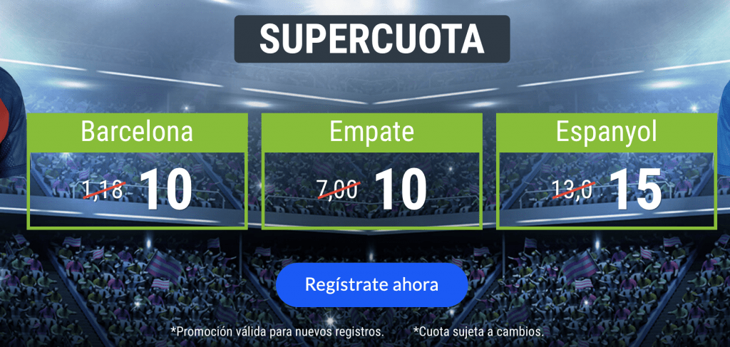 Supercuota Codere Fc Barcelona - Espanyol.