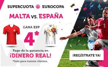 Supercuota Wanabet España gana a Malta a cuota 4.