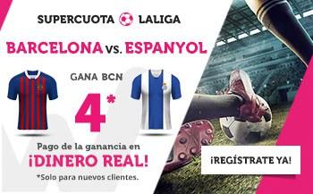 Supercuota wanabet Barcelona gana al Espanyol a cuota 4.