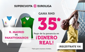 Supercuota Wanabet Euroliga Baloncesto Real Madrid gana al Panathinaikos a cuota 35.