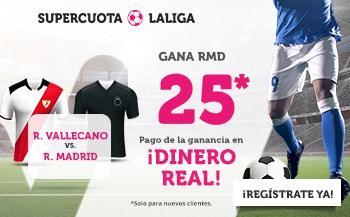 Supercuota Wanabet La Liga : Real Madrid gana al Rayo a cuota 25.