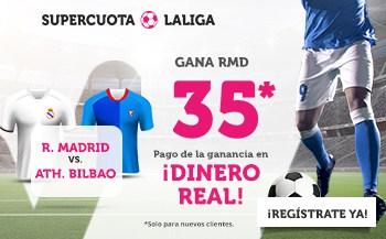 Supercuota Wanabet La Liga : Real Madrid gana al Athletic a cuota 35.