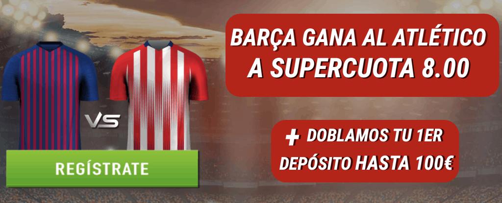 Supercuota Sportium Liga : Barcelona gana al Atlético a cuota 8.