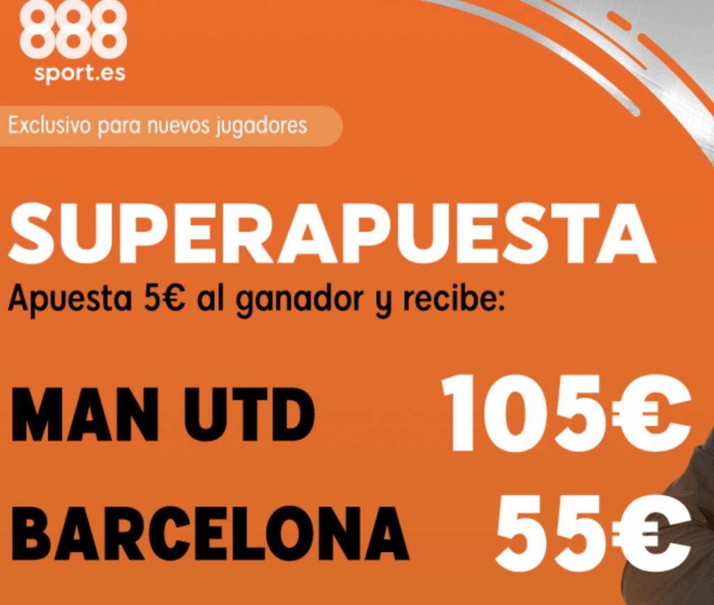 Supercuotas 888sport Champions League Manchester United - FC Barcelona.