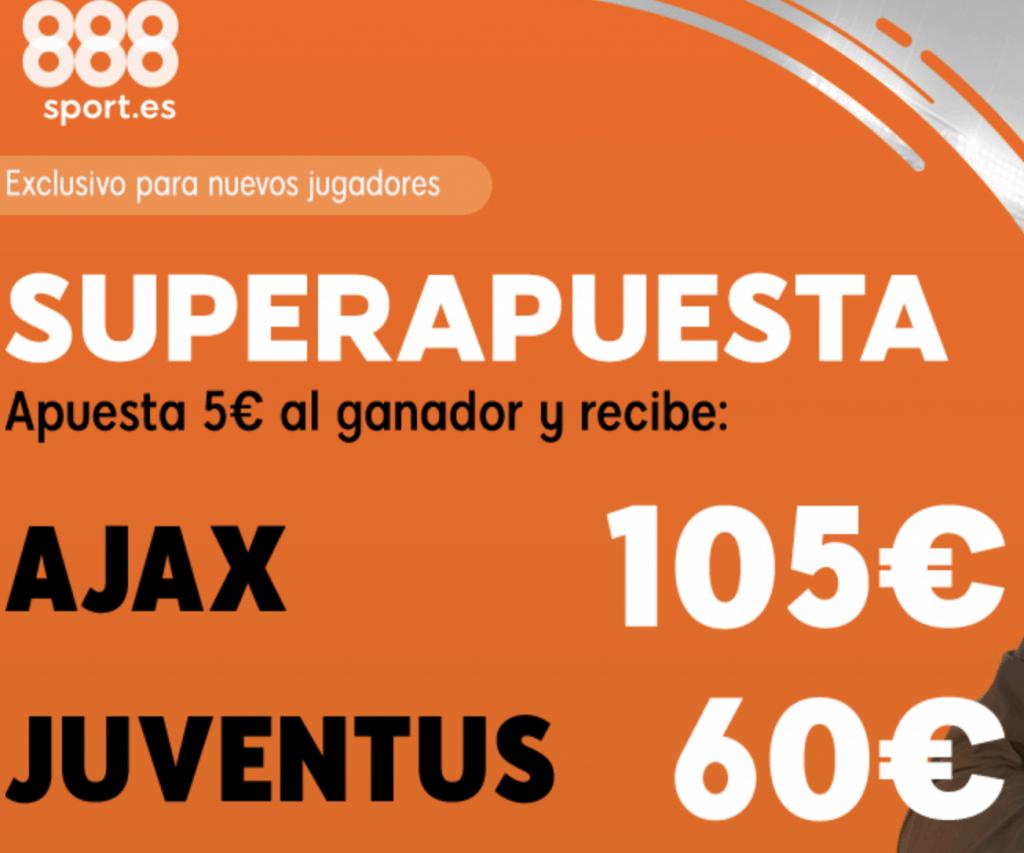 Superapuesta 888sport Champions League Ajax - Juventus