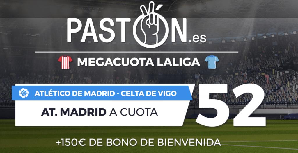 Supercuota pastón La Liga : Atlético de Madrid gana al Celta a cuota 52.