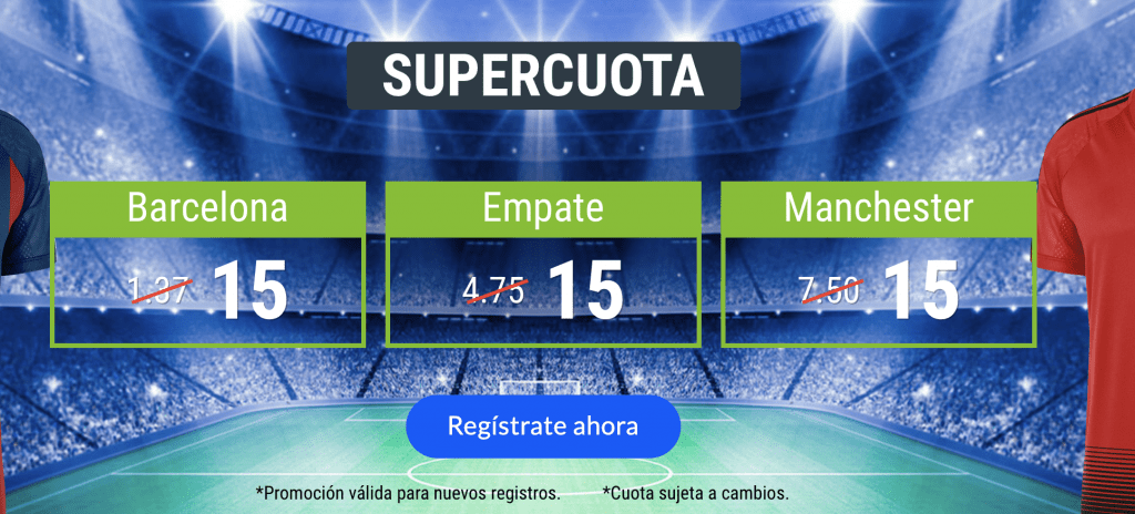 Supercuota Codere Champions League Barcelona - Manchester United.
