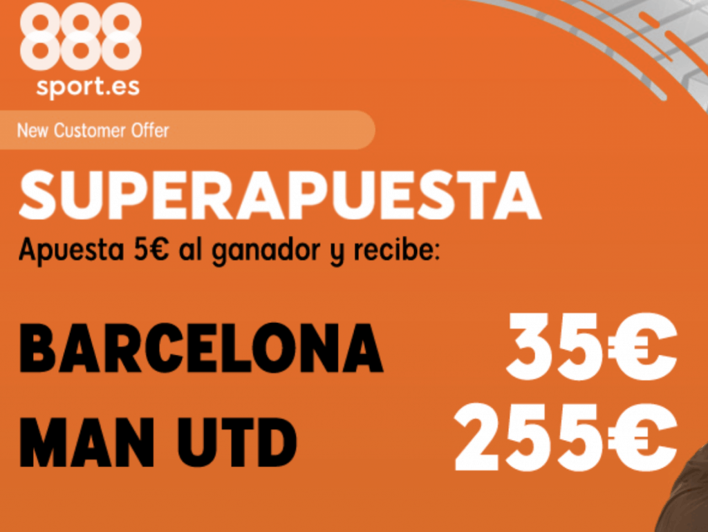 Supercuotas 888sport Champions League : FC Barcelona - Manchester United.