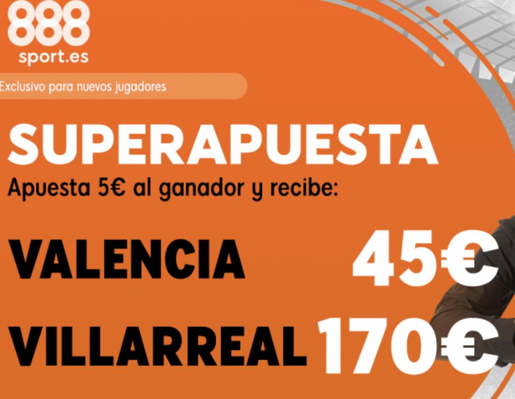 Supercuotas 888sport Europa League : Valencia - Villareal