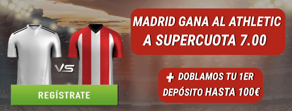 Supercuota Sportium Liga : Real Madrid gana al Athletic a cuota 7.