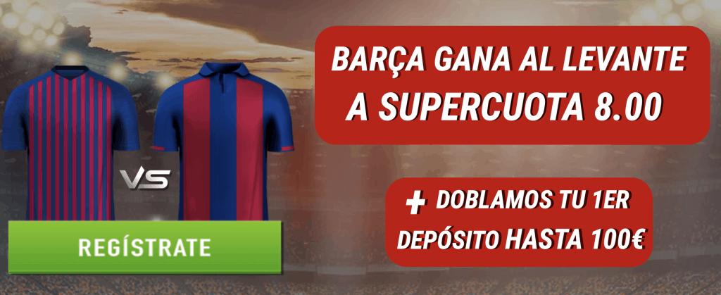 Supercuota Sportium La Liga : Barcelona gana al Levante a cuota 8.