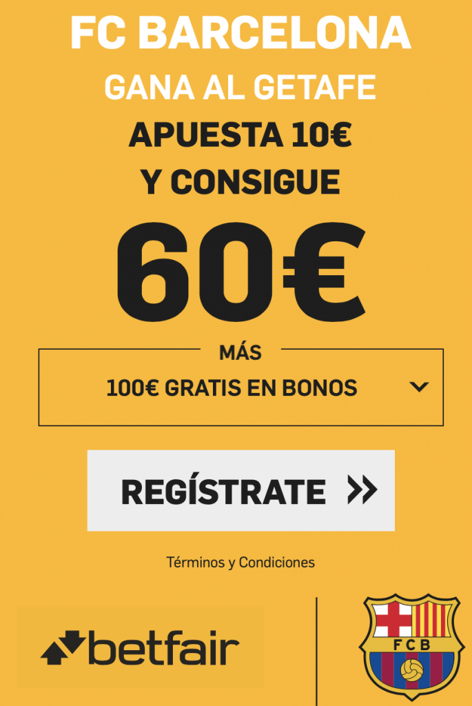 Supercuotas betfair la Liga :